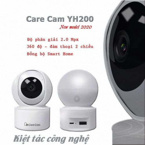 CAMERA WIFI IP CARECAM YH200 2.0 XOAY 360 ĐỘ